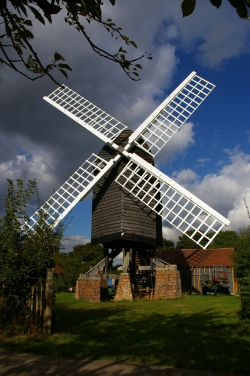 Chinnor postmill has been rebuilt from the ground up after it was demolished in the '60s to make way for housing