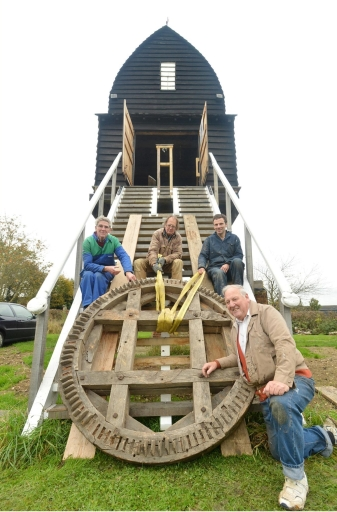 The volunteers at Chinnor mill, 2012