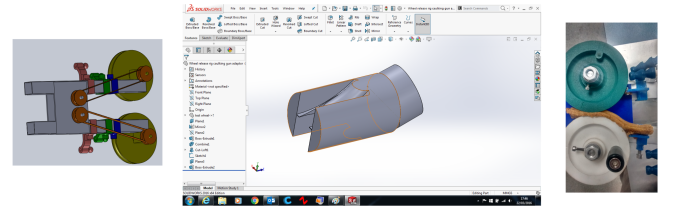 In-house Solidworks CAD, and 3d printing means rapid rig design and manufacture